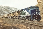 GE scheme GEVO leads vehicle train east