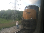 Meeting an eastbound at Covington
