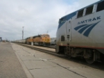 #3 meets a coal train at La Junta