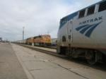 #3 meets a coal train at La Junta