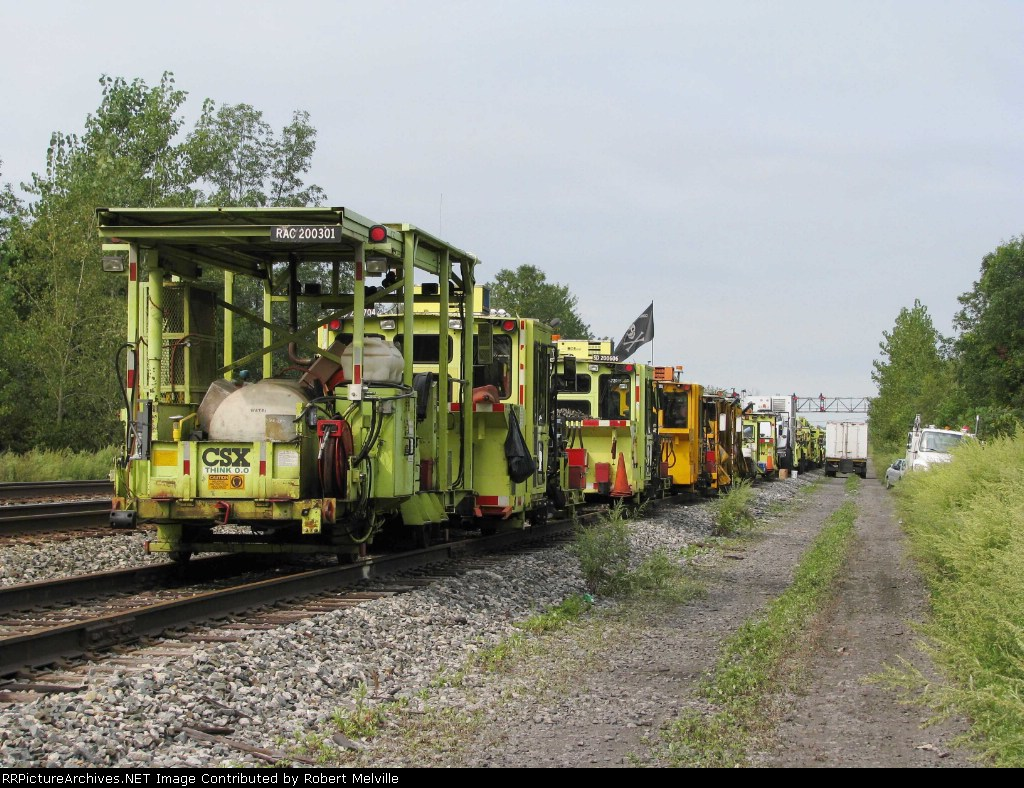 Day off!  (CWR equipment on controlled siding at CP 382 for maintenance)