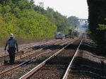 Measuring rail to be replaced in advance of rail gang