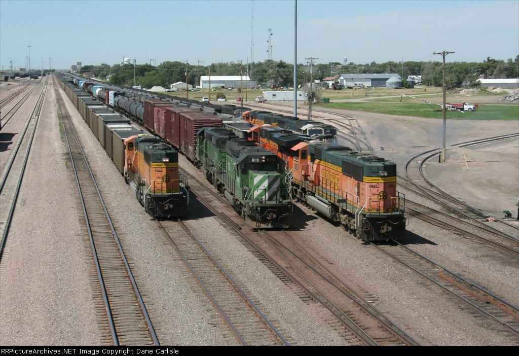 The Alliance Hostlers bring the PASKCK to the East end of Alliance yard. FURX 8118 is leading todays PASKCK.