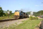 CSX 4709 heads south out of the spring switch siding