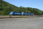 A brace of Conrail SD60I's take PPLX empties to the MGA field