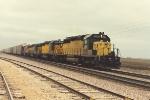 Eastbound vehicle train