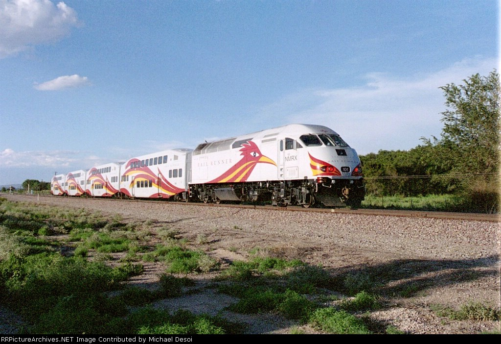NMRX MP-36 #101 is pushing its consist along Route 113