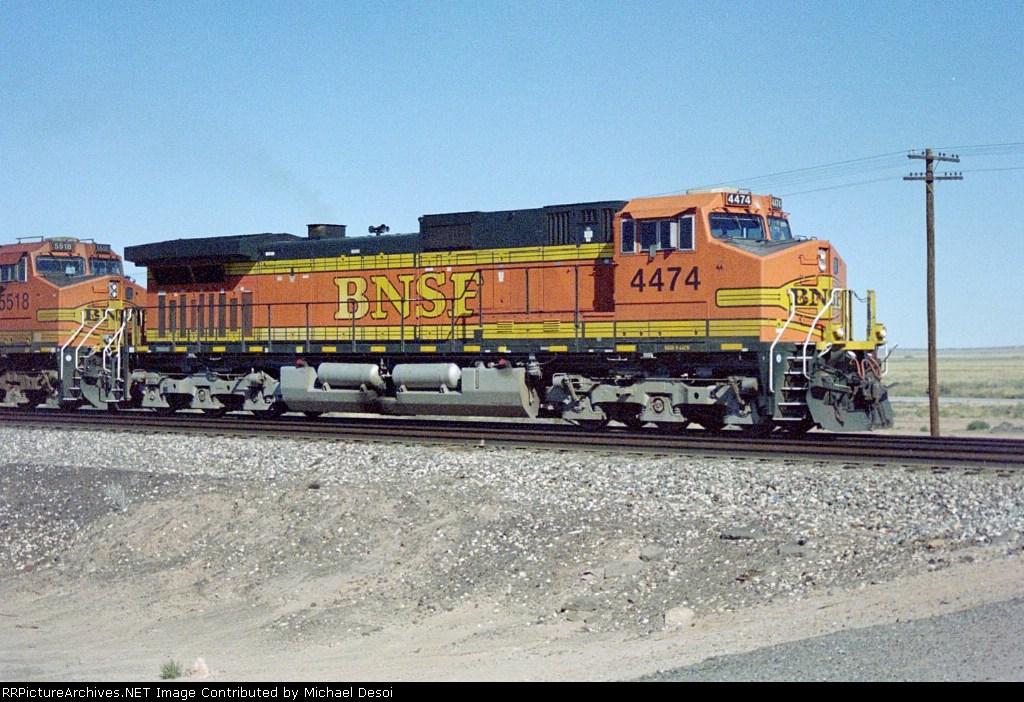 BNSF C44-9W 4474 leads an eastbound