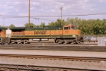 BNSF C44-9W #1107 leads an eastbound into the yard
