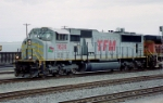 TFM SD-70MAC #1624 leads a westbound out of the yard