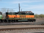 Rarebird BNSF GP-38-2B #2249 is part of a consist switching the yard