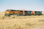 BNSF 4369 leads this multi colored lashup eastbound