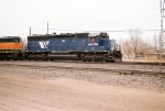 MRL SD-45(-2) #325 leads a westbound at Ross Avenue