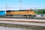 BNSF C44-9W #4164 leads an eastbound into the yard