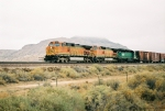BNSF C44-9W #4182 leads an eastbound just west of Rio Puerco