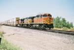 BNSF C44-9W #4439 leads an eastbound stack train at Mesa Rd.