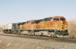 BNSF C44-9W #4564 lead an eastbound at Jarales Rd.