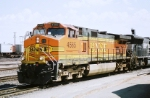 BNSF C44-9W#4565 leads a westbound out of the yard