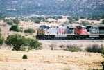 KCS AC-4400CW waits to enter Abo Canyon with a westbound