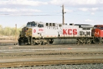 KCS AC-4400CW #4594 has arrived at the yard and is now continuing its westward journey