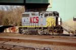 KCS GP-40-2WL #4704 sits in the yard
