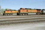 And They're Off!!!! BNSF C44-9w's #5124 & #5313 jockey for the lead westbound out of the yard
