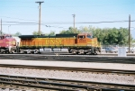 BNSF C44-9W #5355 brings an eastbound into the yrd