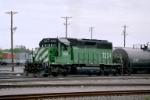 FURX SD-40-2 #7254 switches the yard
