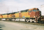 BNSF 4340 patched up & on the road again
