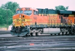 BNSF ES-44DC #7689 leads a westbound out of the yard