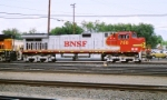 BNSF C44-9W #788 brings an eastbound into the yard