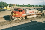 BNSF C44-9W #797 leads a westbound out of the yard