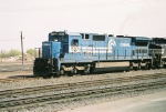 NS C40-8 #8301 still in Conrail colors leads a westbound out of the yard.