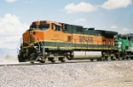 BNSF C44-9W #973 leads a westbound at Don Felipe Rd.