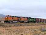 BNSF C44-9W #4182 leads an eastbound acros the mesa