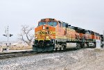 BNSF C44-9W #4481 leads a westbound across Mesa Rd.