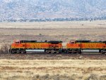 BNSF C44-9W #4698 races across the mesa with an eastbound near Rio Puerco