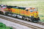 BNSF C44-9W #4724 leads an eastbound