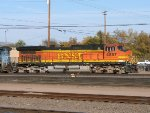 BNSF C44-9W #4857 leads an eastbound into the yard