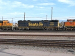 BNSF SD-45-2B #7508 is mid consist in the yard