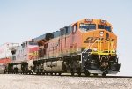 BNSF ES-44DC #7629 leads an eastbound intermodal across Don Felipe Rd.