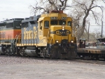 BNSF 2455 shows off the classic GP-30 lines, heading up todays Albuquerque trun from Belen crossing Woodward Rd.