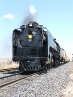 UP 844 departs Vaughn on the Southwest Heritage Tour