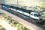 A Still untouched 9639 leads a coal train from the Route 6 OHB