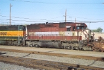 MRL SD-45 #1744 is second out in this westbound consist leaving the yard