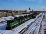 BNSF 8169 & Others in North Minneapolis