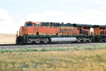BNSF 5952 slows to a stop to wait for wb 8277 local