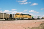 BNSF 8803 is the DPU on a wb string of empty coal cars