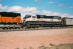 BNSF 9414 is the second power unit behind BNSF 9177 eb