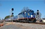 RNCX 1869 leads Amtrak 75
